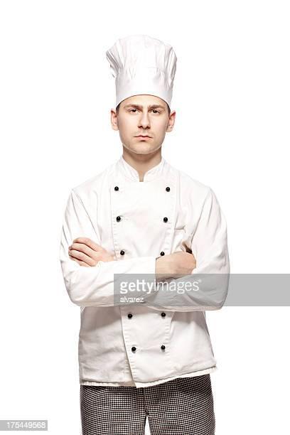 Portrait d'un cuisinier ou chef de