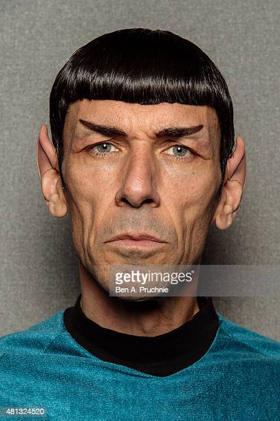 A portrait of a cosplay fan portraying Mr Spock visiting the London Film and Comic Con at Olympia Exhibition Centre on July 19 2015 in London England