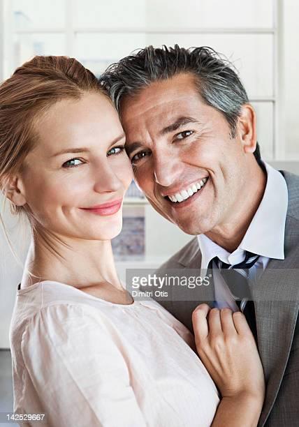 Portrait of a couple, smiling