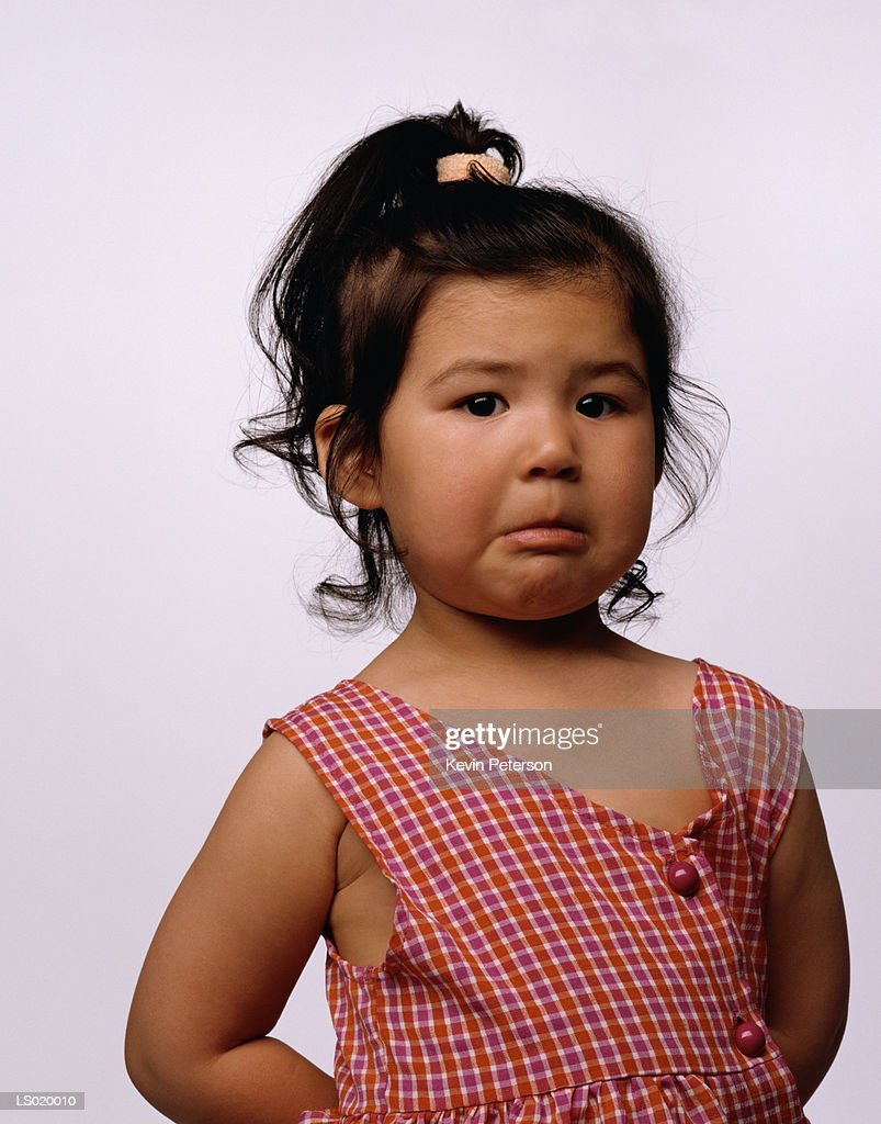 Portrait of a Crying Girl : Stock Photo