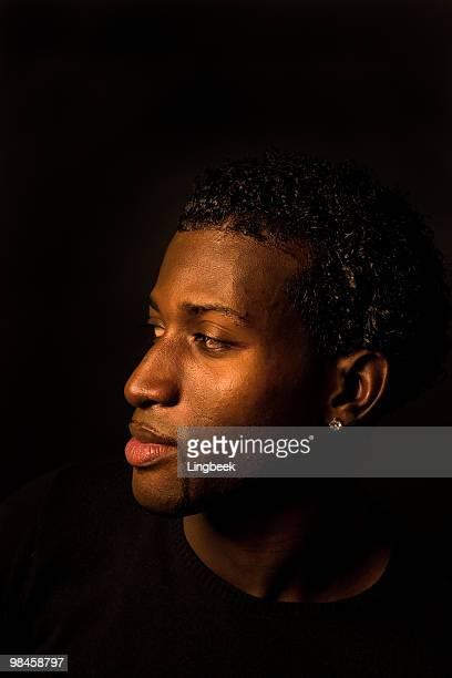 Portrait of a dark man
