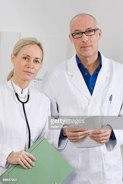 Portrait of a dentist and a dental assistant