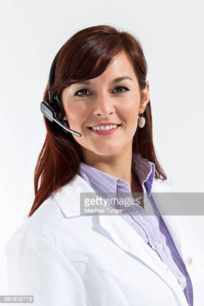 Portrait of a doctor with headset