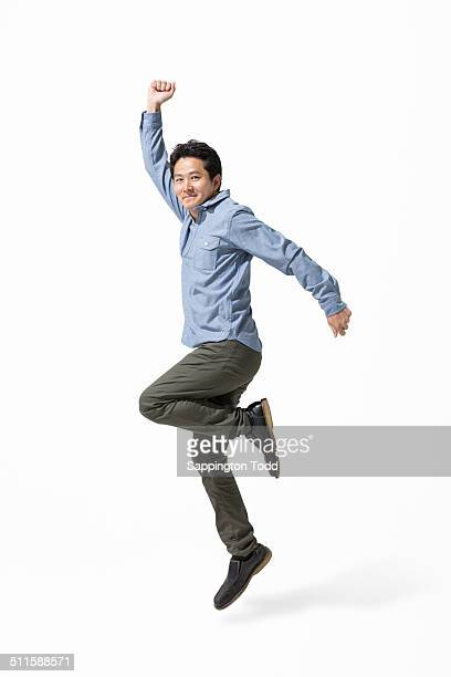 Portrait Of A Excited Man