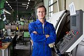Portrait of a factory worker
