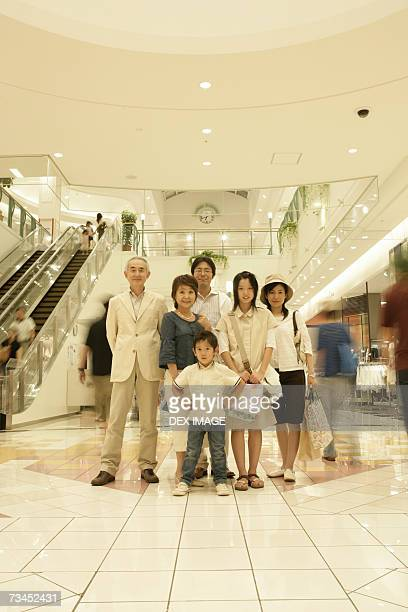 Portrait of a family at a shopping mall