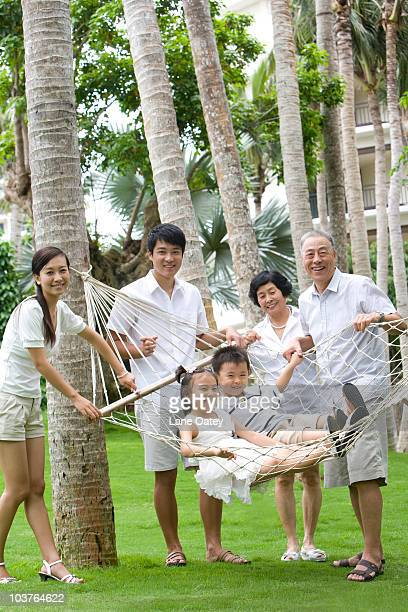 Portrait of a family on vacation