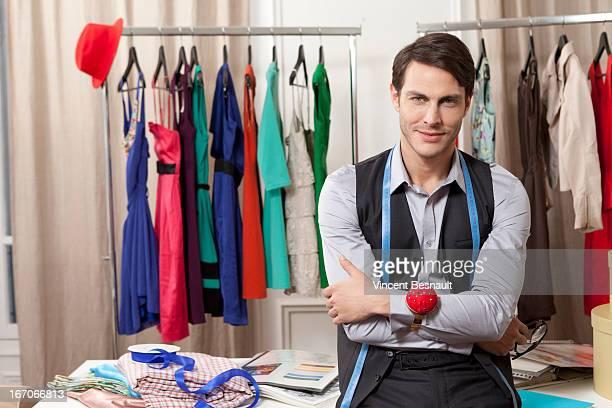 Portrait of a fashion stylist