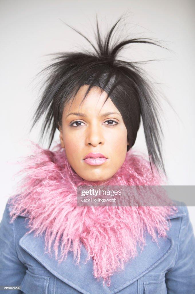 Portrait of a fashionable woman : Stock Photo