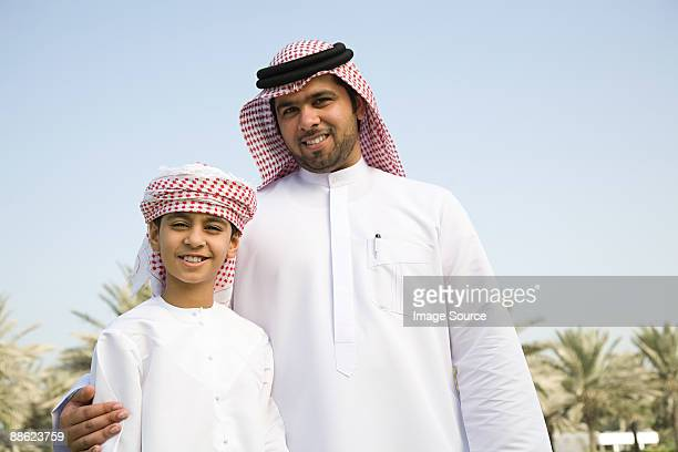 A portrait of a father and son