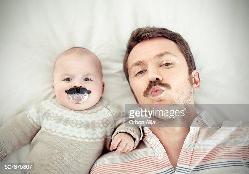 Retrato de un padre y su hijo