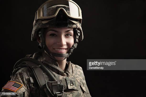 Retrato de uma mulher Soldado americano