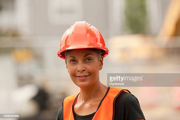 Portrait of a female construction engineer