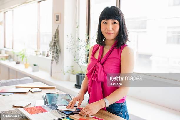 女性デザイナーの肖像