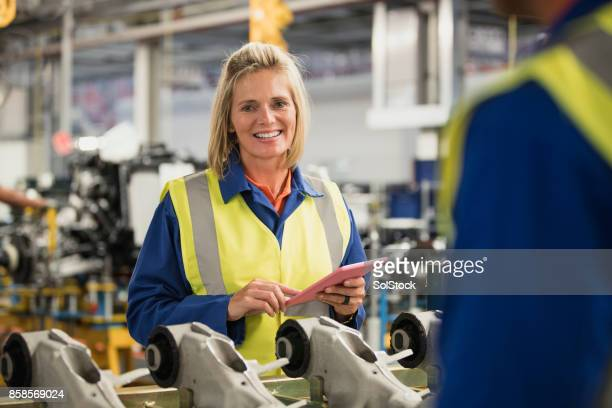 Portrait of a Female Factory Worker