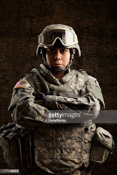Portrait of a Female Military Soldier