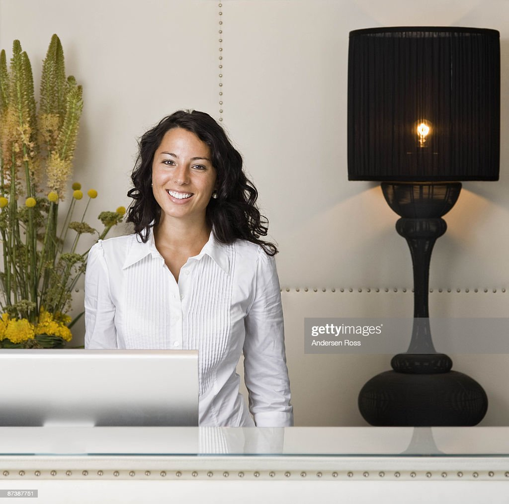 Portrait of a female receptionist