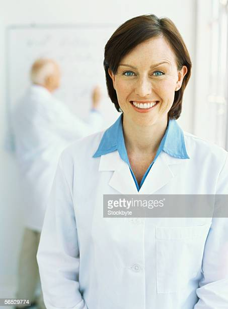 portrait of a female scientist smiling