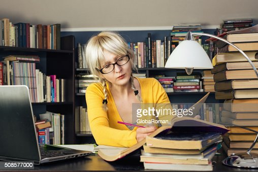 Portrait Of A Female Student : Stockfoto