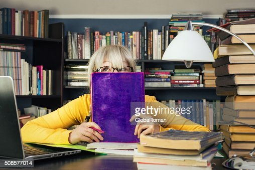 Portrait Of A Female Student : Stockfoto
