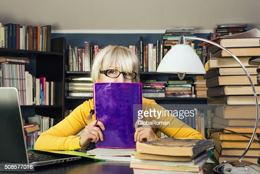 Portrait Of A Female Student : Bildbanksbilder