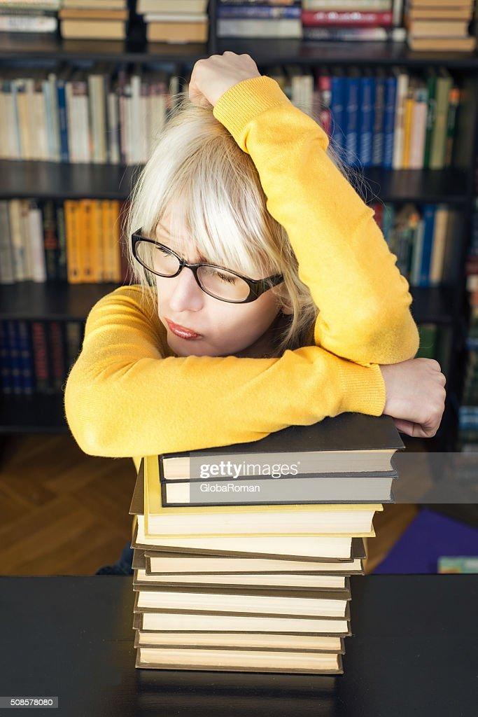 Porträt von einer Studentin : Stock-Foto