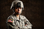 Portrait of a Female US Army Soldier
