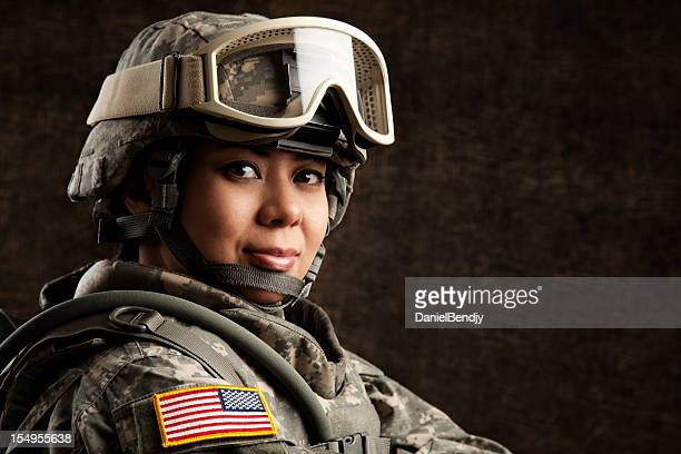 Portrait of a Female US Military Soldier