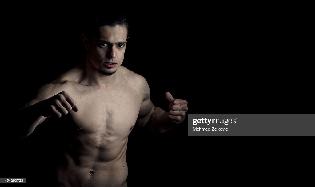 Portrait of a fighter : Stock Photo