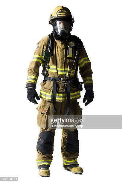 Portrait of a firefighter with mask