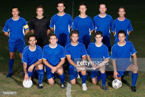 Portrait d'une équipe de football