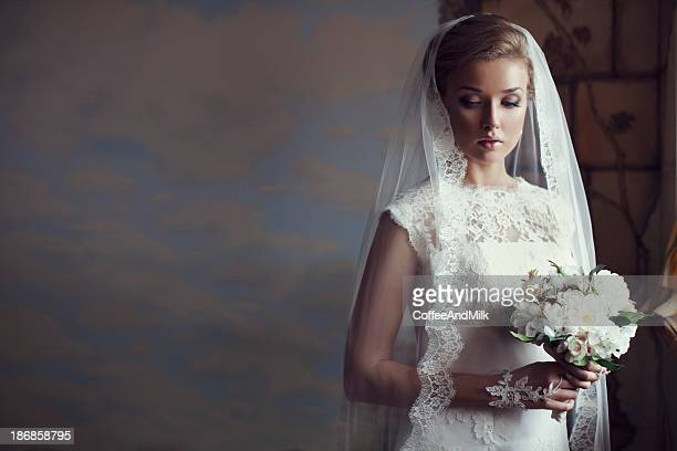 Portrait of a fresh and lovely beautiful bride