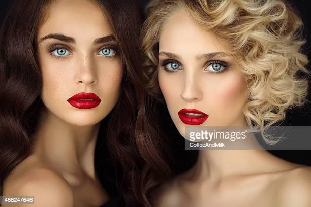 Porträt einer frischen und schönen Frauen