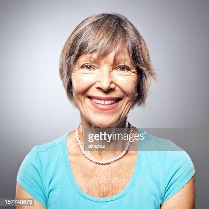 Portrait of a friendly smiling senior woman