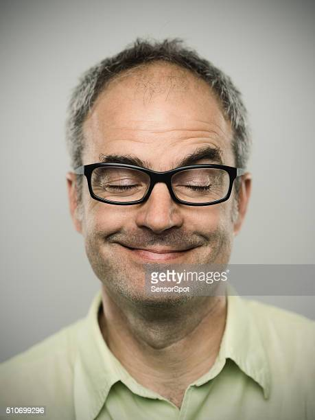 Portrait of a funny caucasian real man