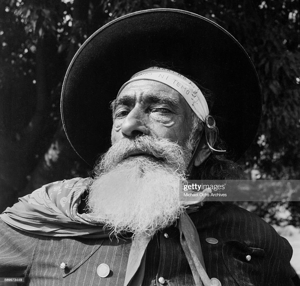 A portrait of a Gaucho in his traditional attire in Montevideo Uruguay