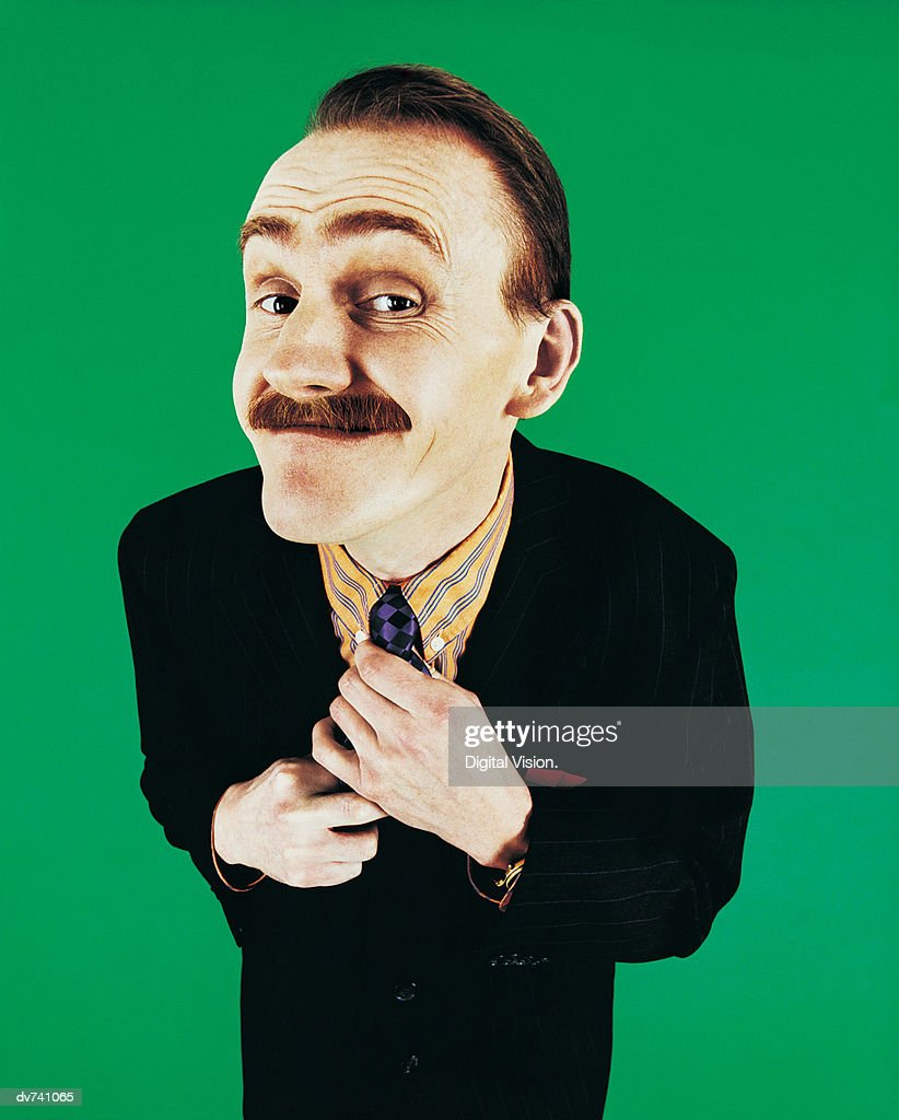 Portrait of a Geeky Man : Stock Photo
