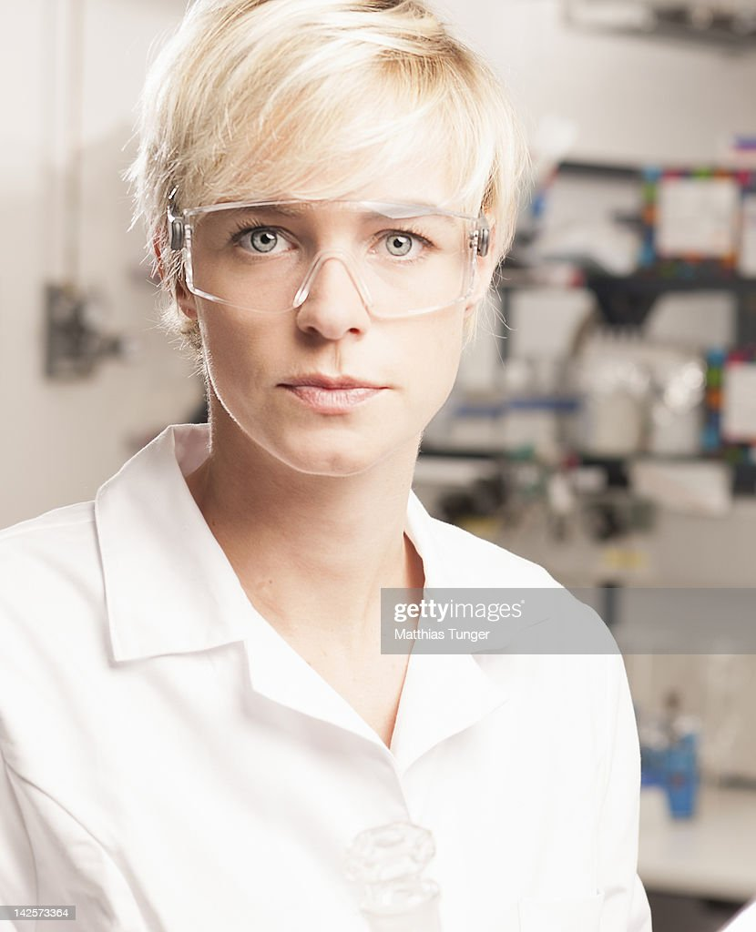 Portrait of a genetic engineer in the laboratory