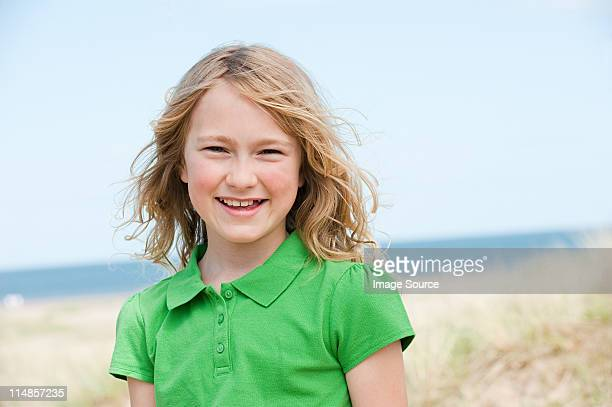 Portrait of a girl at the coast