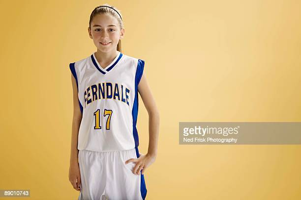 Portrait of a girl basketball player