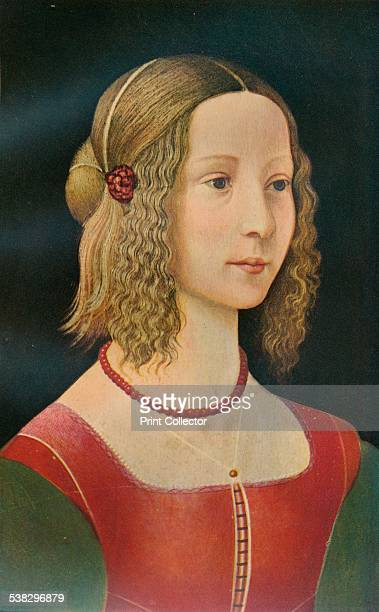 Portrait of a Girl c1490 Painting held in The National Gallery London From A History of Painting Vol 1 by Haldane MacFall [TC and EC Jack London...