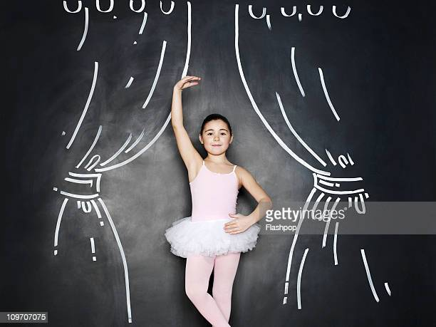 Portrait of a girl dressed as a ballerina