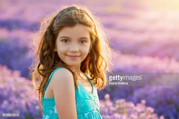 Portrait of a girl in lavender