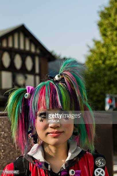 Portrait of a girl in Manba / Decora style Tokyo 2010