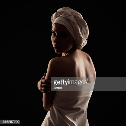 portrait of a girl in the African style : Stock Photo