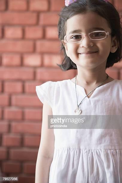 Portrait of a girl smirking