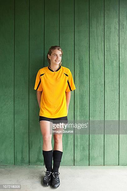 Portrait d'une fille Joueur de football
