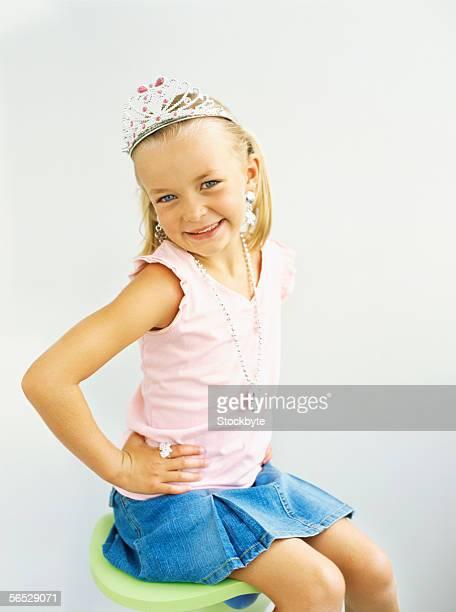portrait of a girl wearing a tiara