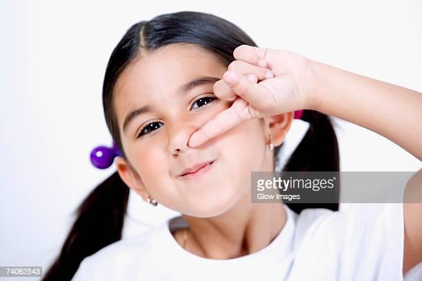 Celebrity nose pickers finger