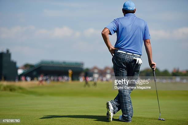Portrait of a golfer at the 2014 Open Championship in Liverpool on July 17 2014